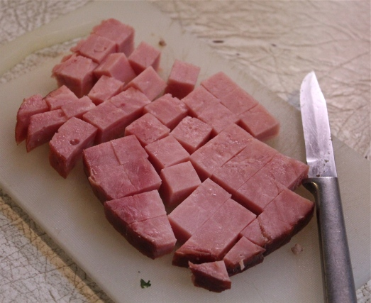 Dice up some ham to add in.