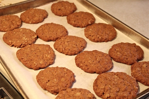 After baking, browned but not crispy.