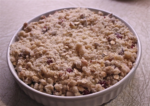 Sprinkle on crumble topping.