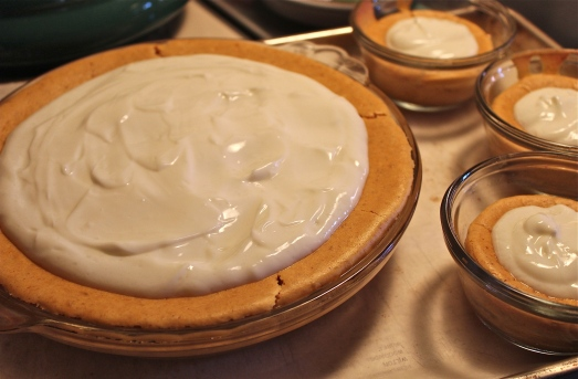 Before baking--fill center with sour cream topping.