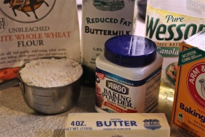 Ingredients for dough.