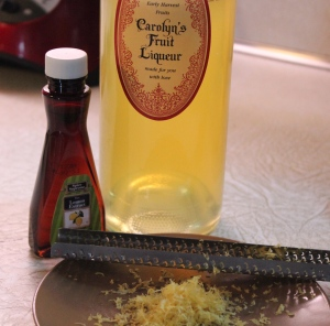My own Limoncello, lemon extract and lemon zest give the cookies a definite lemon flavor.