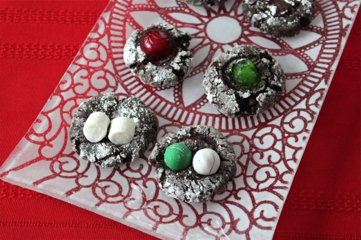 Cocoa Thumbprints with various fillings.