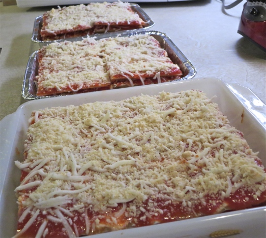Making lasagnas