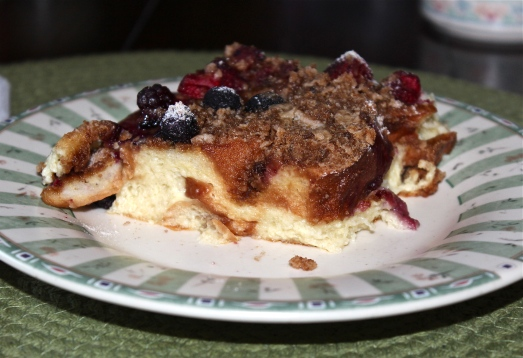 Fruited Baked French Toast