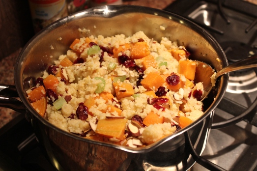 Cook the couscous and add the remaining ingredients.
