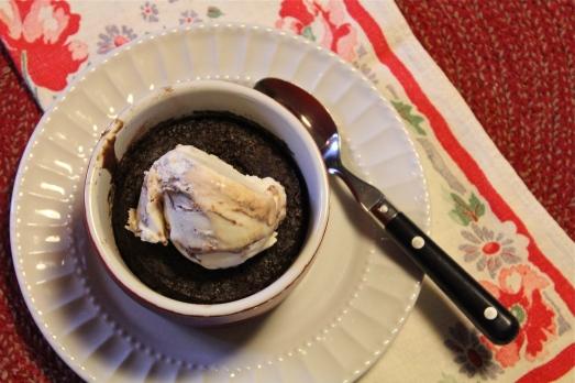 Serve warm with ice cream.