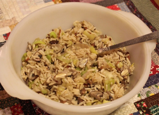 Brown Rice Pilaf with Almonds
