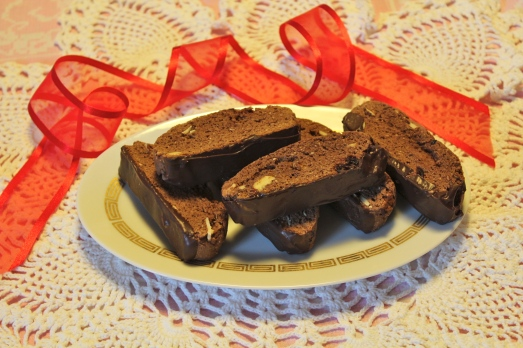 Chocolate Almond Cherry Biscotti