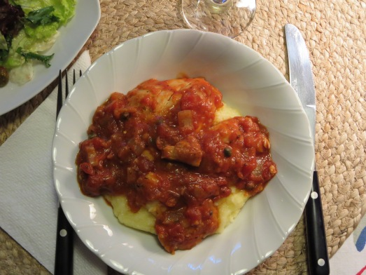 Chicken Cacciatore with Polenta