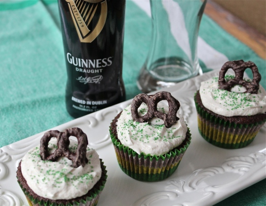 Guinness Chocolate Cupcakes with Beer Frosting