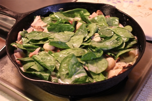 Stir in the spinach.