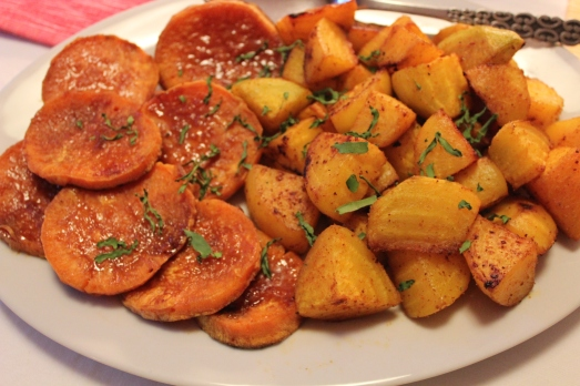 Spicy Roasted Root Vegetables