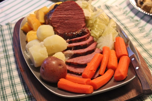 Glazed Corned Beef with Root Vegetables