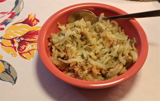 Potato-fennel hash.