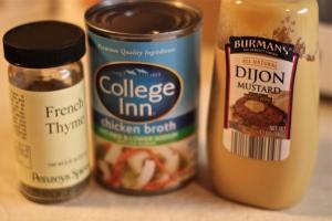 Sauce ingredients.