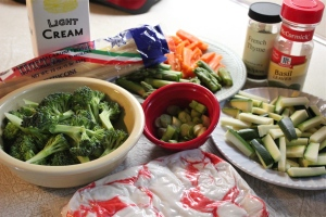 Have all the vegetables prepped before you start cooking.