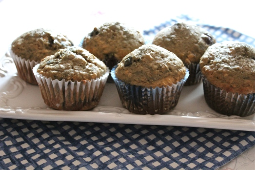 Whole-Grain Blueberry Spice Muffins