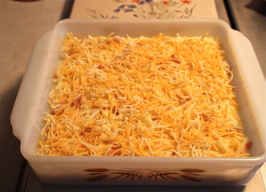 Top with remaining cheese.