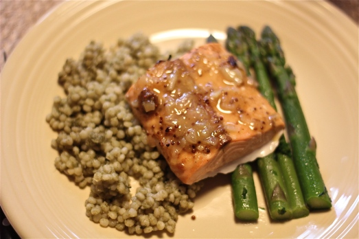 Glazed Salmon and Couscous