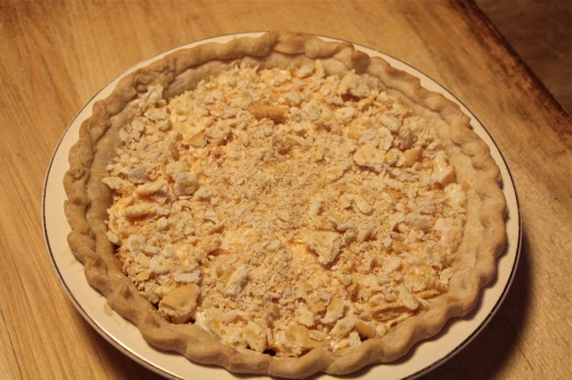 Top with crushed Ritz crackers.