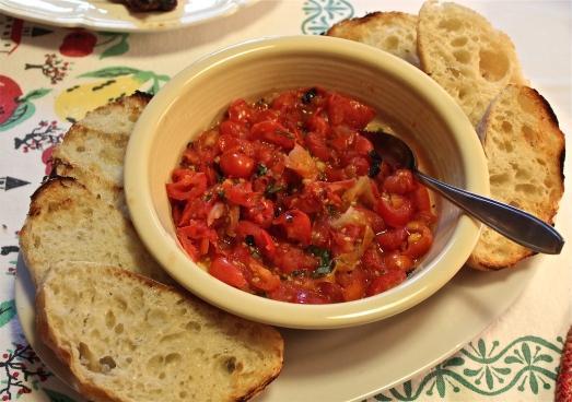Roast Tomato Bruschetta