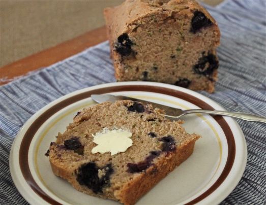 Less Is More Blueberry Zucchini Bread Delicious On A