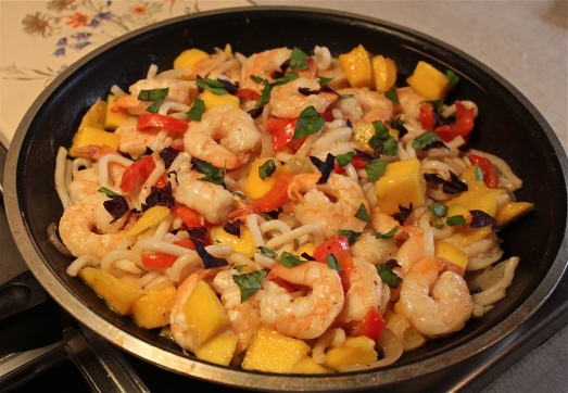 Shrimp-Mango Stir-Fry