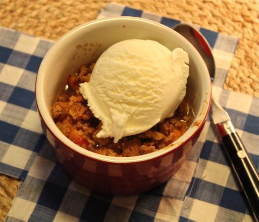 Served with vanilla ice cream.