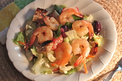 Grilled Shrimp Panzanella Salad