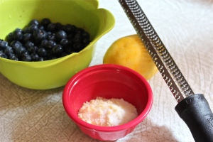 Blueberries and lemon---made for each other.