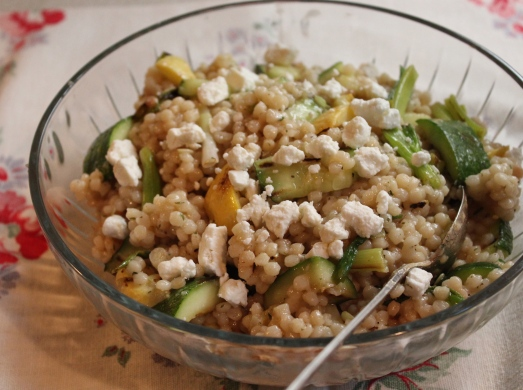 Couscous Salad with Grilled Squash and Feta.