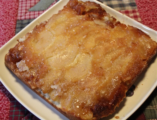 Apple Upside Down Cake with Salted Caramel.