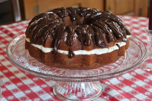 Spice Cake with Chocolate Ganache