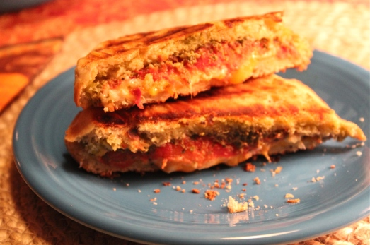 Tomato-Pesto Grilled Cheese.