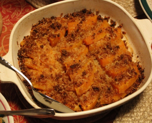 Toasty, fragrant crumbs, jazz up this winter squash dish.
