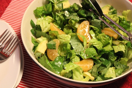 Kale, Mandarine and Avocado Salad