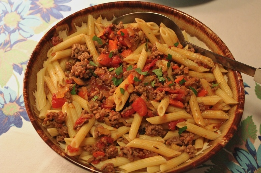 Bolognese Sauce with penne pasta