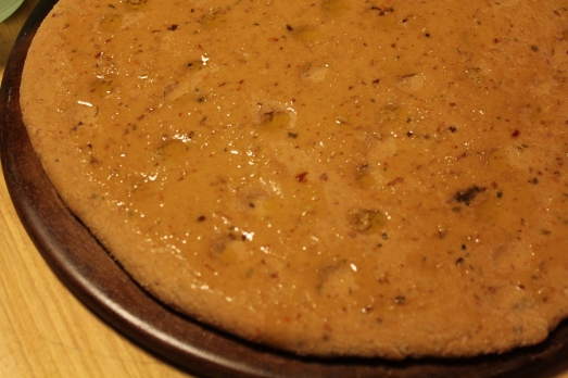 Drizzle with olive oil and minced garlic.