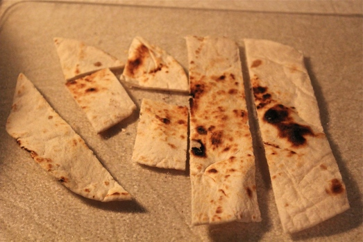 Toasted flatbread adds crunch.