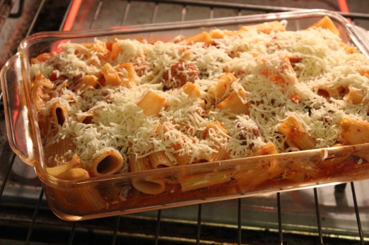 Sprinkle with grated cheese.