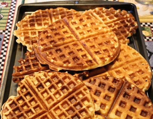Cheesy Buttermilk Waffles