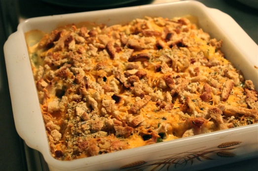 Top with stuffing mix.
